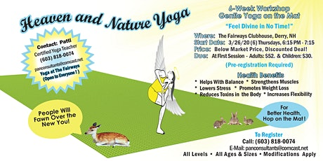 Gentle Yoga on the Mat, 6-Week Workshop, at The Fairways, Derry, NH tickets
