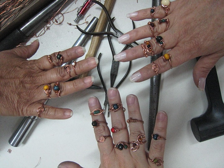 Learn the basics of Wireworking & Beading. DIY Beginners Jewelry Class image