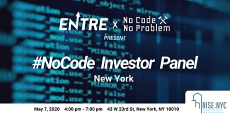#NoCode Investor Panel tickets