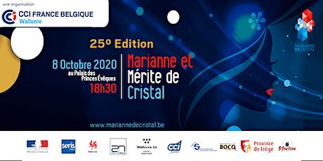Marianne de Cristal - 25° Edition - Soirée de Gala - Palais des Prince-Evêques de Liège billets