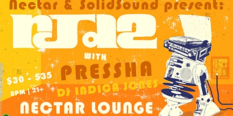 Rescheduled: RJD2 with Pressha, DJ Indica Jones tickets