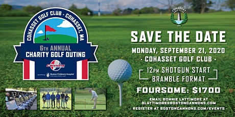 Cannons Foundation Golf Outing Benefiting Boston Children's Hospital tickets