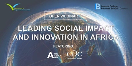 WEBINAR: Leading Social Impact & Innovation in Africa tickets