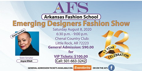 Arkansas Fashion School Emerging Designers Fashion SHow 2020 tickets