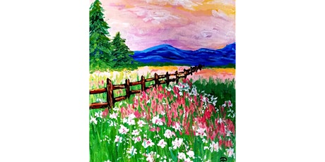 """5/21 - Corks and Canvas Event @ Kelly's Bar & Grill, NEWPORT """"Morning Meadow"""" tickets"""