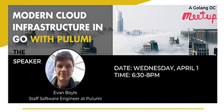 Webinar: Modern Cloud Infrastructure in Go with Pulumi tickets