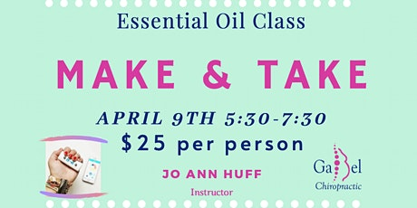 Essential Oil Class Make & Take tickets