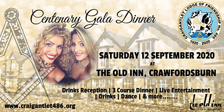 Centenary Gala Dinner tickets