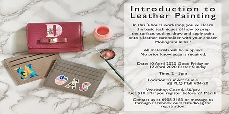 Leather Painting Workshop - Paint your initial on a luxurious card holder tickets