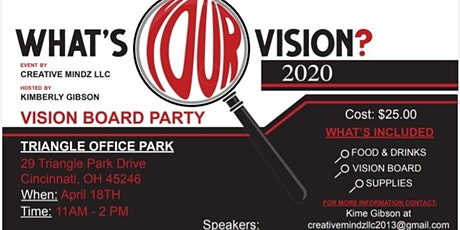 What's Your Vision 2020? Vision Board tickets