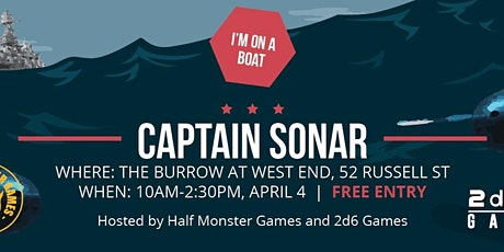 (POSTPONED) HMG x 2d6 Games CAPTAIN SONAR GAME DAY! tickets
