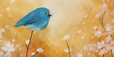 TEMPORARILY POSTPONED Bluebird & Blossoms Paint Party at Brush & Cork