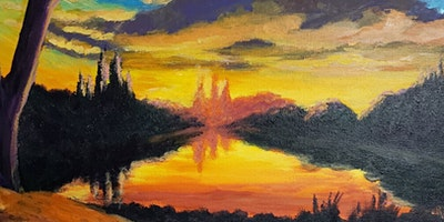 TEMPORARILY POSTPONED Mountain Sunset Paint Party at Brush & Cork