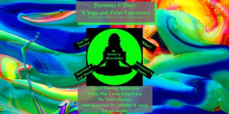 Harmony and Hues: A Yoga and Paint Experience Session 4 Heart Chakra tickets