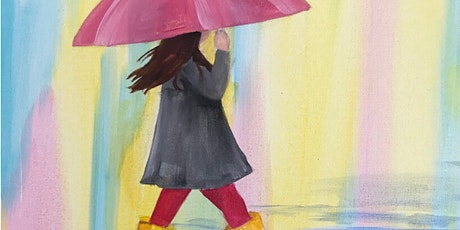 Kids & Grown-Ups Rainy Day Girl Paint Party at Brush & Cork tickets