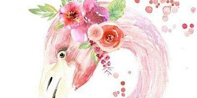 Paint Night in Sydney: Pretty Flamingo