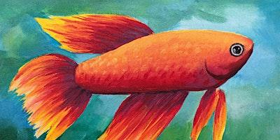 Kids & Grown-Ups Beta Fish Paint Party at Brush & Cork