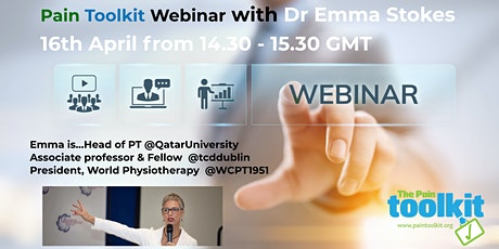 Pain Toolkit Webinar with Physiotherapist Dr Emma Stokes tickets