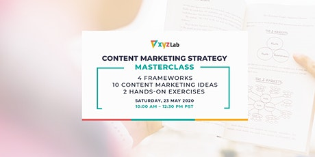 Content Marketing Strategy Masterclass tickets