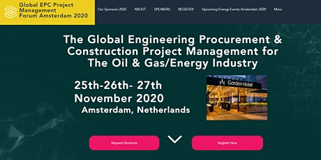 The GLobal EPC Project Management Amsterdam 25th -26th -27th November 2020 tickets
