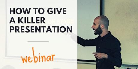 [WEBINAR] How to Give a Killer Presentation tickets