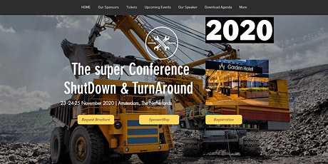 The super Conference ShutDown & TurnAround  23 -24-25 November 2020 tickets