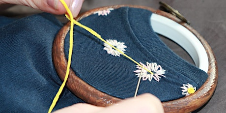 Intro to Embroidery and Embroidered Upcycling tickets