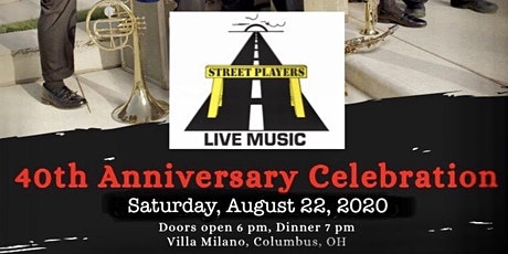 The Street Players 40th Anniversary Celebration tickets