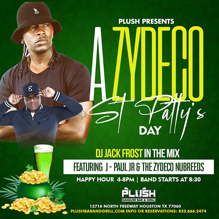 ZYDECO TUESDAYS AT PLUSH BAR AND GRILL WITH J.PAUL JR LIVE image