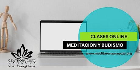 Clases online · CLASES DE MEDITACION Y BUDISMO (Miércoles 19h00) entradas