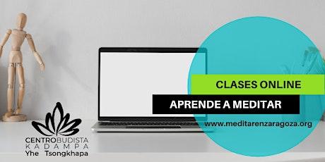 Clases online · CLASES DE MEDITACION Y MINDFULNESS (lunes 19h30) entradas