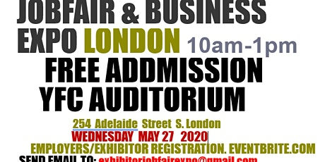 JOB FAIR EXPO LONDON (EMPLOYERS/EXHIBITORS) tickets
