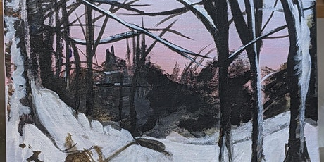 Acrylic painting of a winter scene tickets
