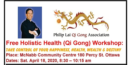 FREE HOLISTIC HEALTH (QI GONG ) WORKSHOP IN OTTAWA tickets