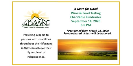 A Taste for Good set for September 14, 2020 ! tickets