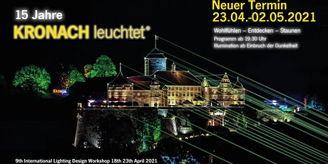 KRONACH leuchtet® zum 15. Mal  in 2021 Tickets