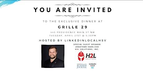 LinkedinLocalHSV Exclusive Dinner tickets