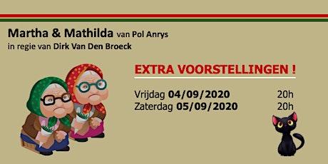 Zaterdag 05/09/2020 - Martha & Mathilda tickets
