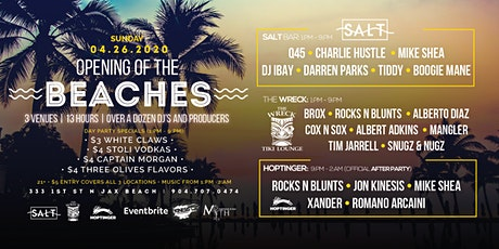 Opening of the Beaches at Salt, The Wreck and Hoptinger | Sunday 04.26.20 tickets