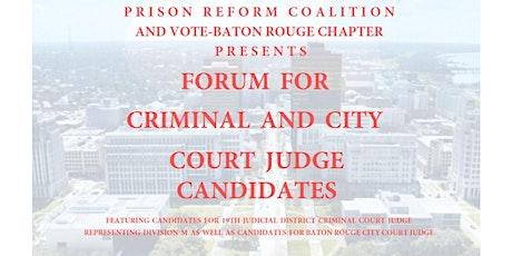 Judges Candidate Forum tickets