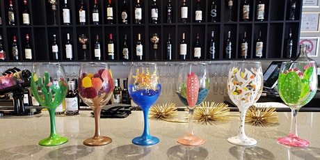 Painting Wine Glasses at Peacock Wine Bar tickets