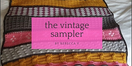 Vintage Sampler Crochet Blanket tickets
