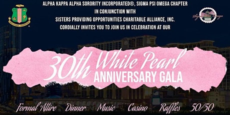 30th White Pearl Anniversary Gala tickets