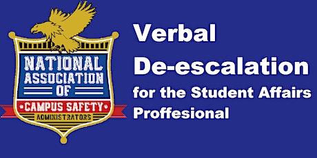 Verbal De-Escalation for the Student Affairs Professional - Georgia tickets