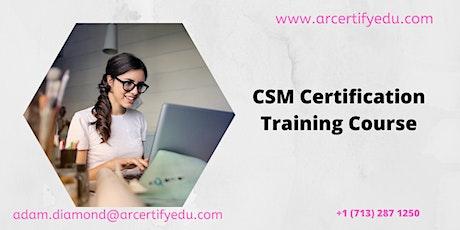 CSM Certification Training Course in Grand Rapids, MI,USA tickets