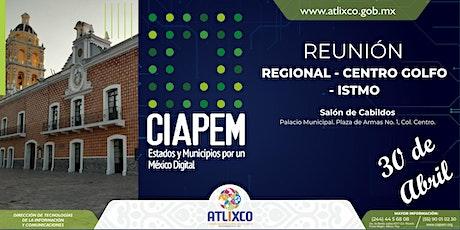 Segunda Reunión Regional Centro Golfo Istmo Atlixco 2020 boletos
