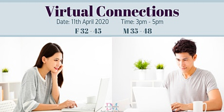 LAST 2 SLOTS FOR LADIES! DM Virtual Speed-Dating Event! (F 32-45, M 35-48) (With Videoconferencing & 1-to-1 Rotations) tickets
