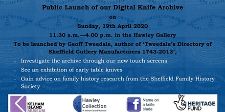 Launch of Digital Knife Archive tickets