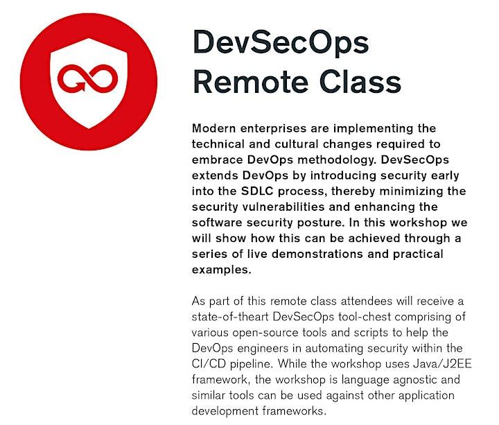 DevSecOps Live Online Training image