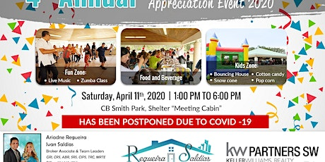 Event Postponed - 4th Client Appreciation Party 2020 tickets